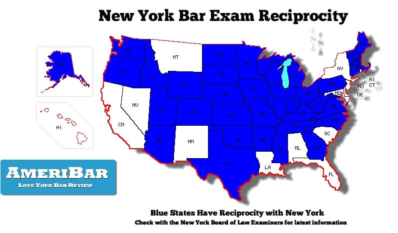 Jurisdictions that have reciprocity with New York