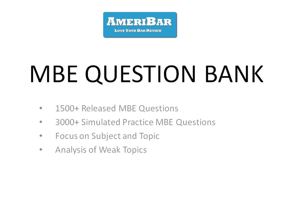 MBE Question Bank